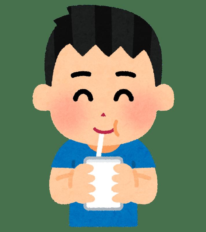 水分補給を行う男性のイラスト