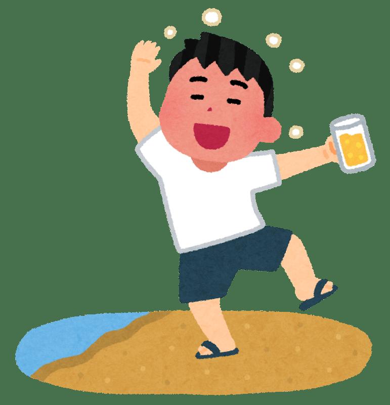 酒に酔っぱらった男性のイラスト