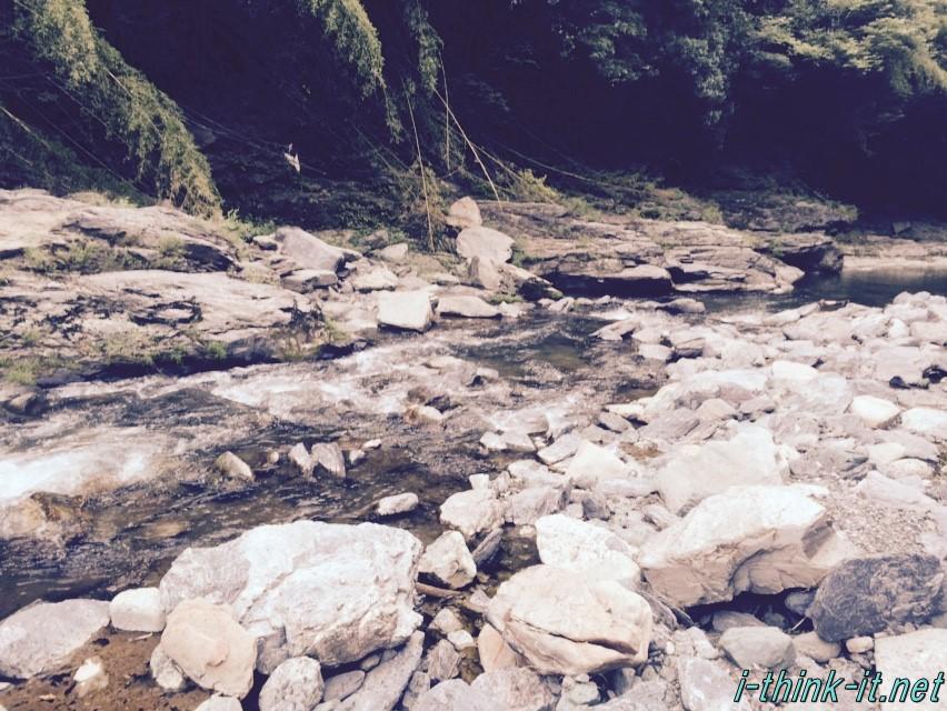 山を流れる渓流