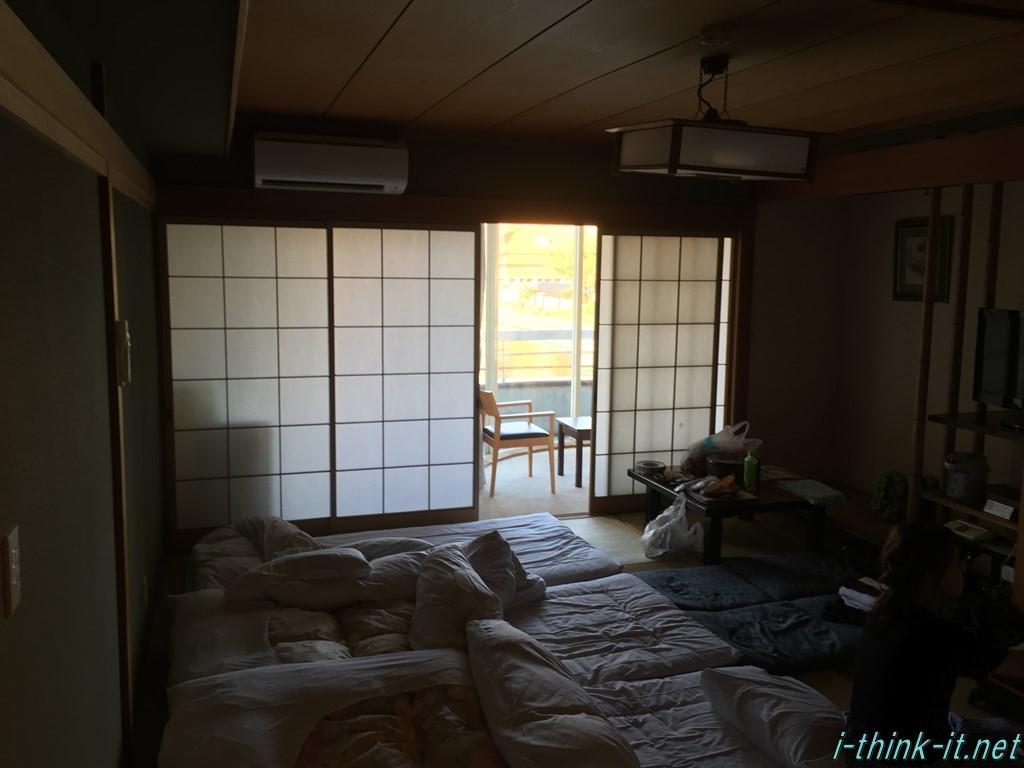 宿泊する部屋の様子