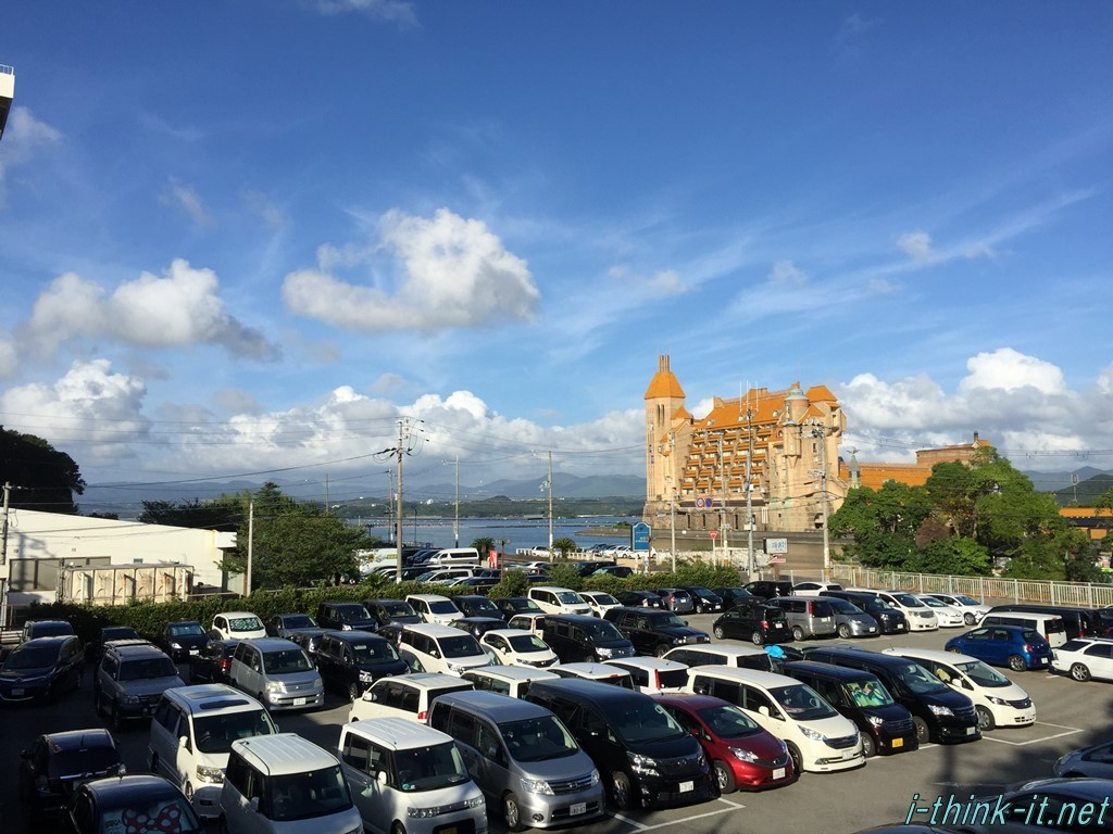 駐車場からホテルに向かう途中に撮った写真