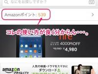 Amazonポイントの使い方。どうやらスマホアプリからだと使えないらしい・・・。
