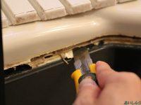 お風呂の浴槽エプロンが外れた!浴槽エプロンの補修方法について。