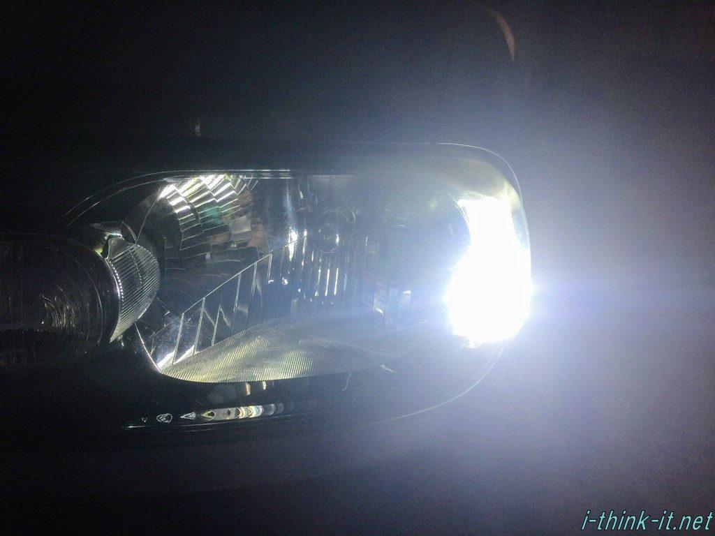 交換したポジションランプ点灯