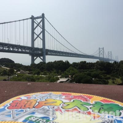 瀬戸大橋を望むPA