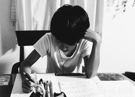 子供のテスト勉強に付き合いながらブログを書いてみる!(邪魔しただけw)