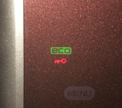 鍵マークが表示された冷蔵庫
