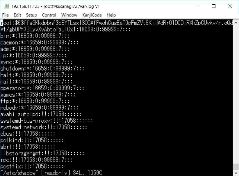 VPSの/etc/passwd