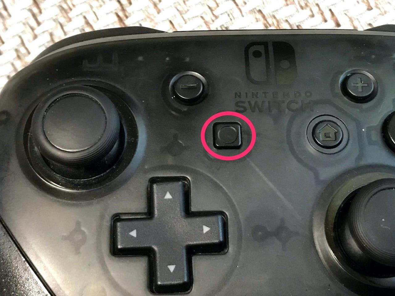 Proコントローラーの撮影ボタン