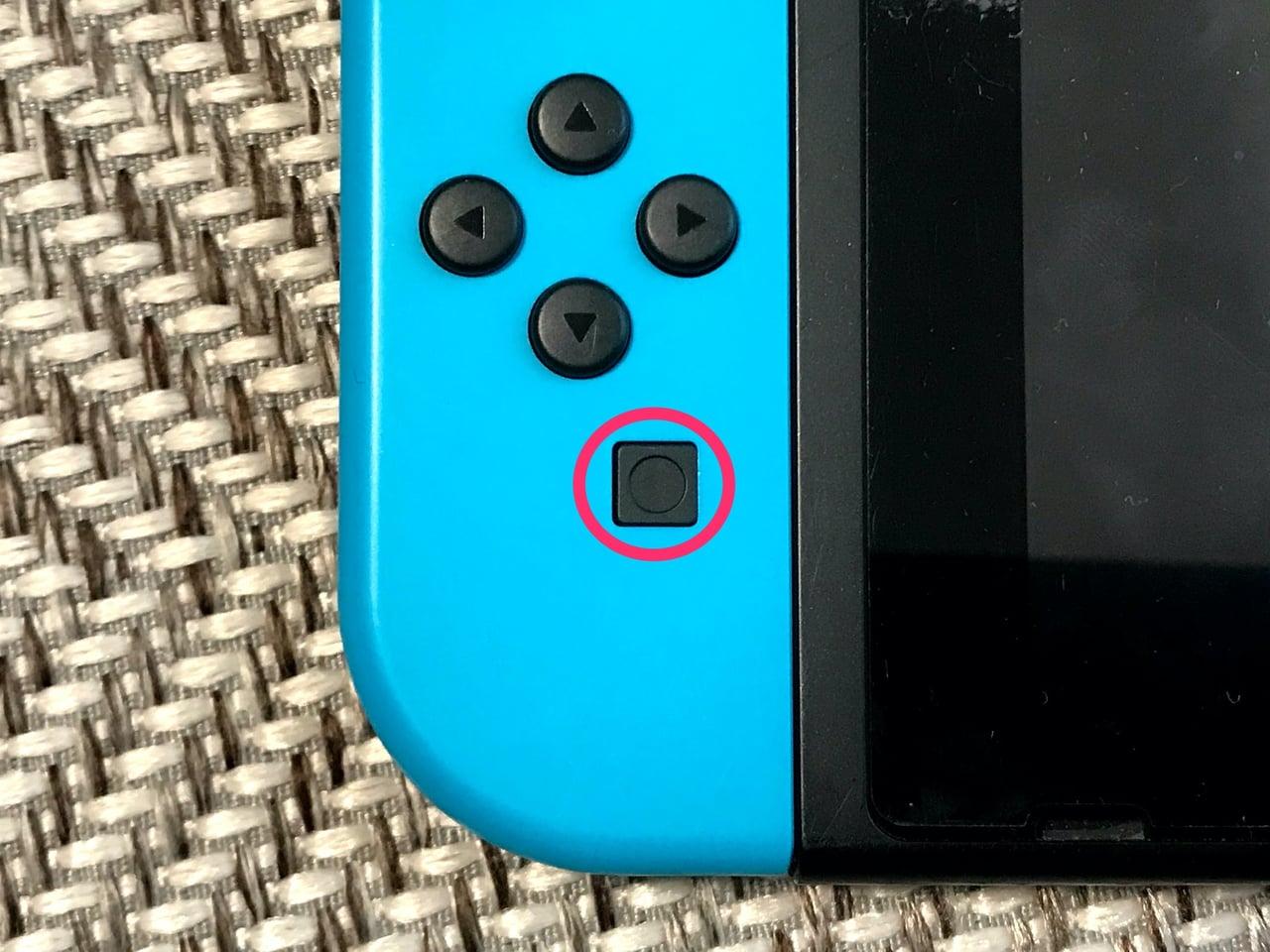 スイッチ標準コントローラーの撮影ボタン