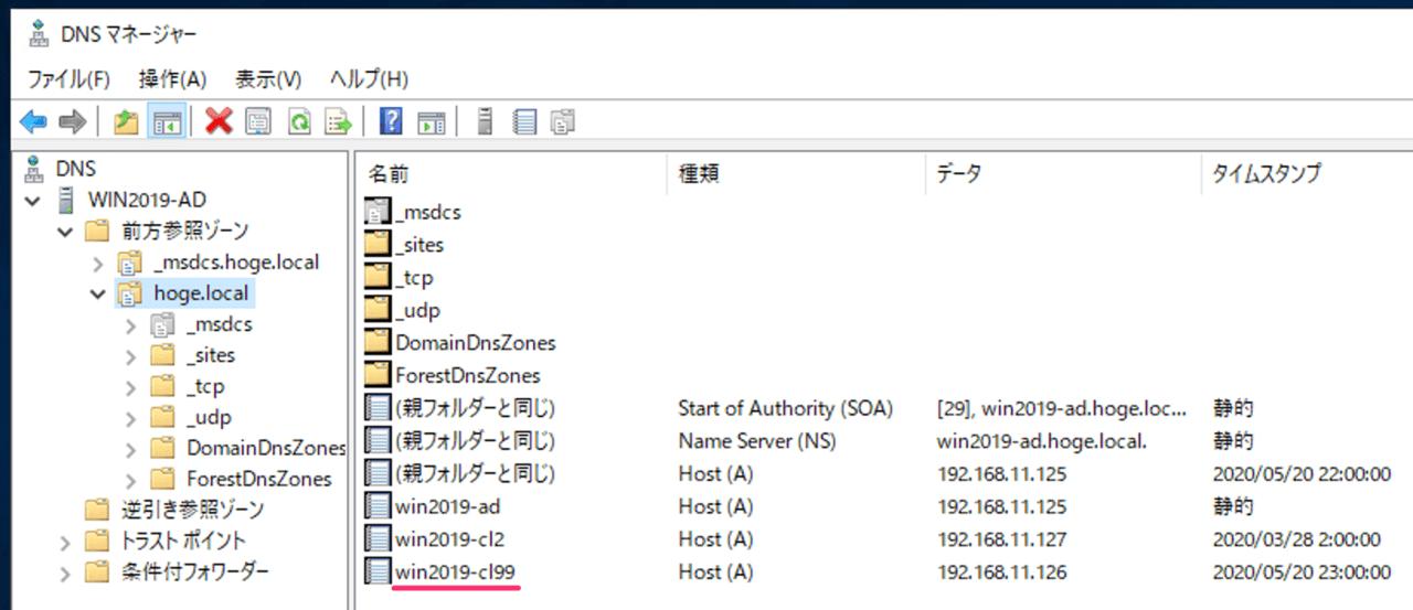 DNSレコード