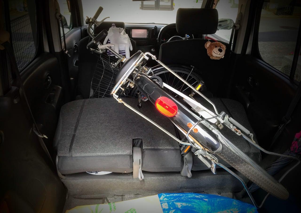 車に積んだ自転車