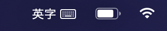 %表示されないバッテリーアイコン