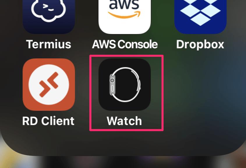 Watchアプリ起動