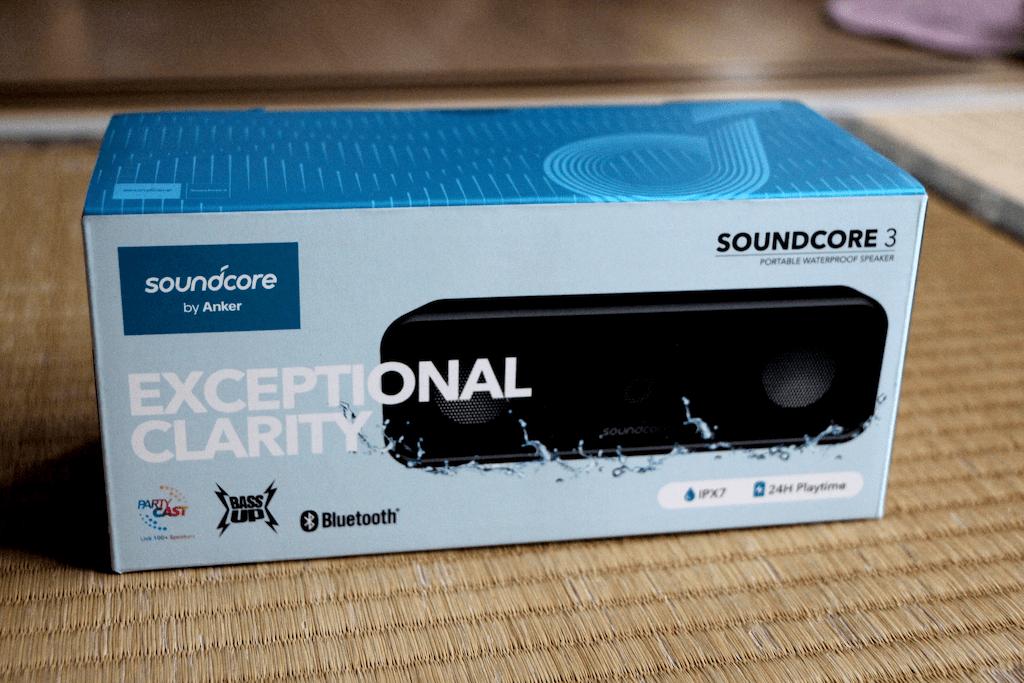 箱に入ったAnker Soundcore 3