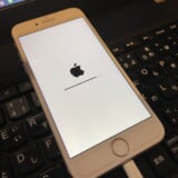 復元中のアップルマーク