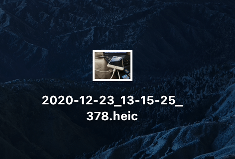 MacにダウンロードしたHEIC形式の画像データ