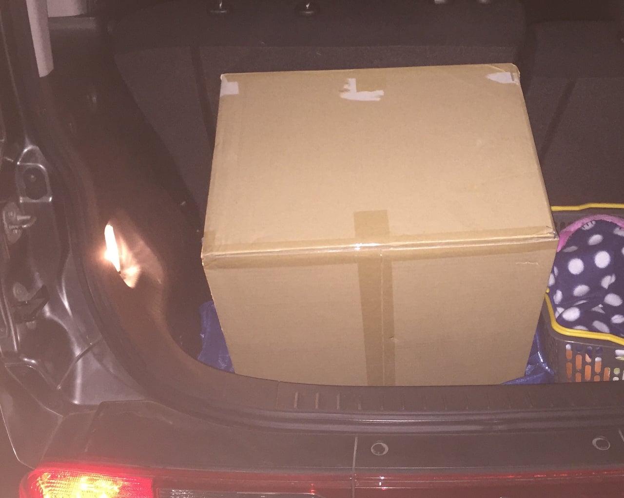 車に積み込んだホットプレート