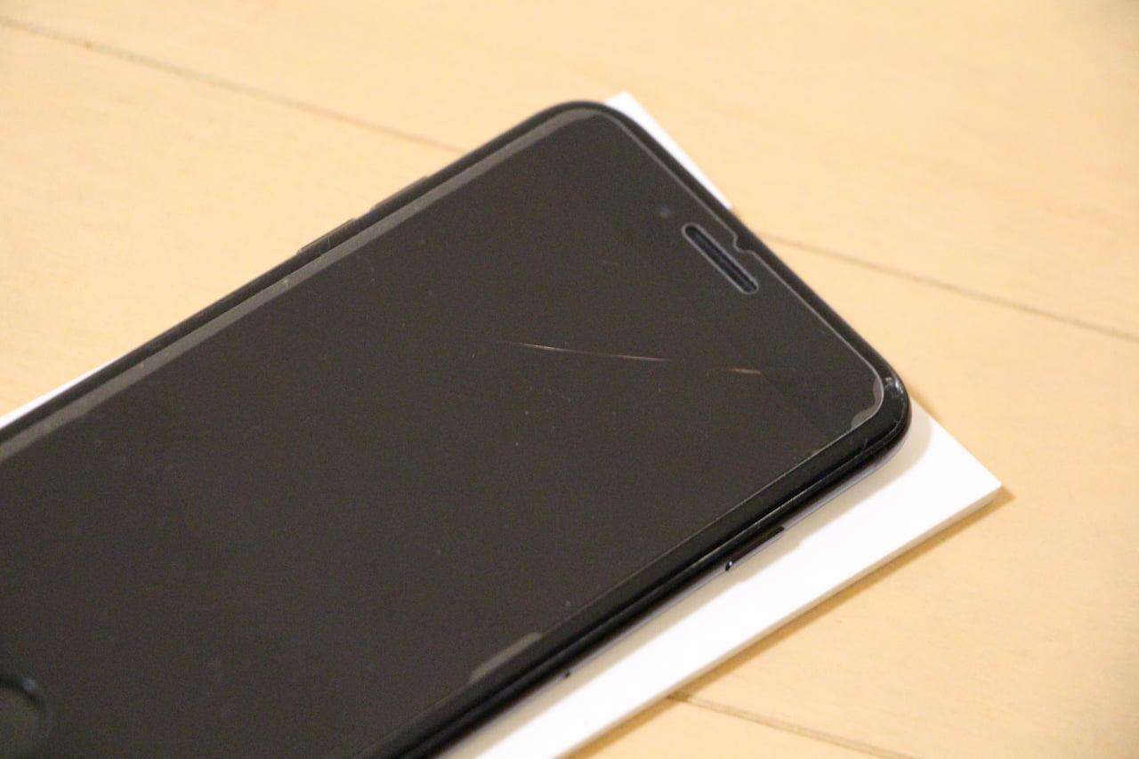 液晶割れしたiPhone7
